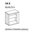 SZAFKA OTWARTA NISKA OK8