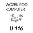 WÓZEK POD KOMPUTER U116