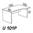BIURKO 150/100 U101 PRAWE