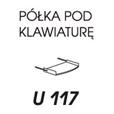 PÓŁKA POD KLAWIATURĘ U117