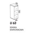SZAFA KARTOTEKOWA WYSOKA U63