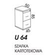 SZAFA KARTOTEKOWA NISKA U64