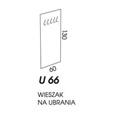 WIESZAK NA UBRANIA U66